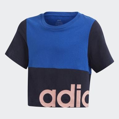 Polo Linear Colorblock Azul Niña Training