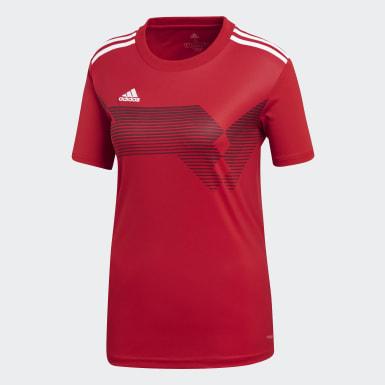 Jersey Campeón 19 Rojo Mujer Fútbol