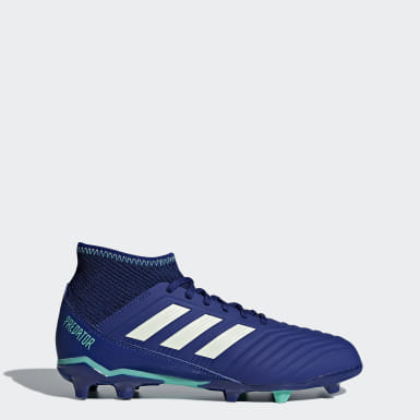 Kids Football Blue Predator 18.3 Firm Ground Boots