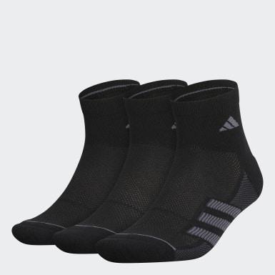 Men Training Black Superlite Stripe 2 Quarter Socks 3 Pairs