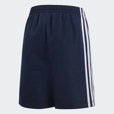 Shorts Essentials 3 Rayas Azul Niño Training