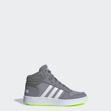 Children Essentials Grey Hoops 2.0 Mid Shoes