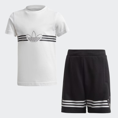 Outline Tee and Shorts Sett