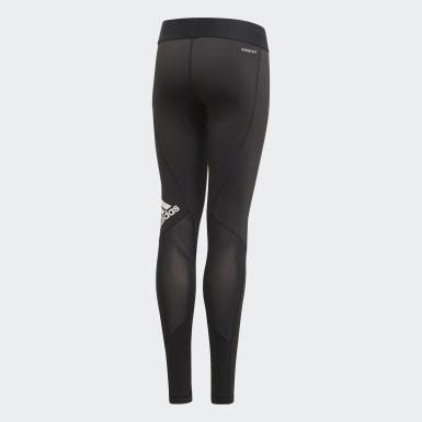 Girls Yoga Black Alphaskin Leggings