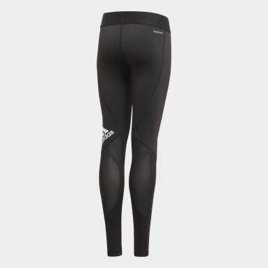 Leggings Alphaskin Preto Raparigas Ioga