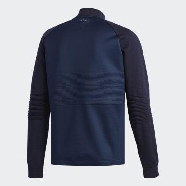 Herr Golf Blå Adipure Bonded Knit Jacka