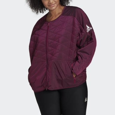 Ženy Athletics Purpurová Bunda adidas Z.N.E. Padded (Plus Size)