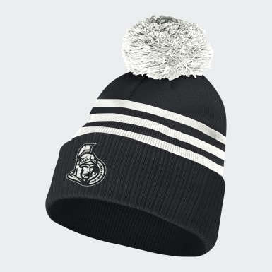 Bonnet Senators 3-Stripes Cuffed Pompom multicolore Hommes Hockey