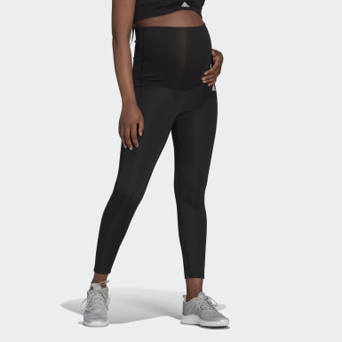 Women Training Black Designed To Move 7/8 Sport Tights (Maternity)