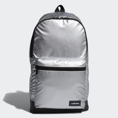 Women Training Silver Classic Metallic Backpack Medium