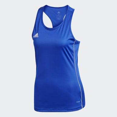 CORE18 TANK W Azul Mujer Fútbol
