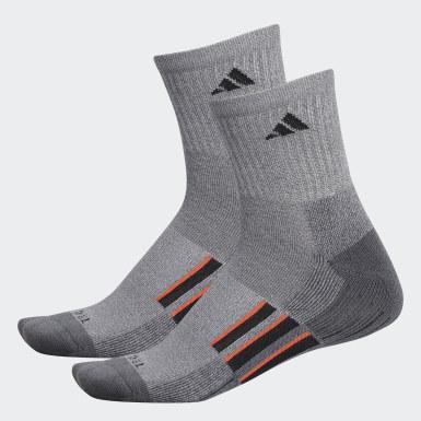 Men's Running Grey AEROREADY Mid Crew Socks 2 Pairs