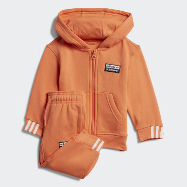 Infant Originals Orange Hoodie Set