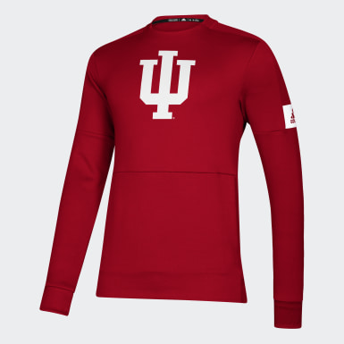 Men's Athletics Multicolor Hoosiers Game Mode Crew Sweatshirt