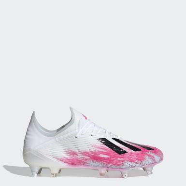 Zapatos de Fútbol X 19.1 Terreno Suave Blanco Hombre Fútbol