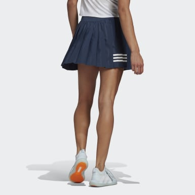 Women Tennis Blue Club Tennis Pleated Skirt