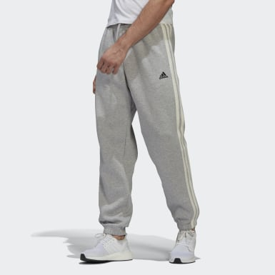 Men Athletics Grey Winter 3-Stripes Tracksuit Bottoms