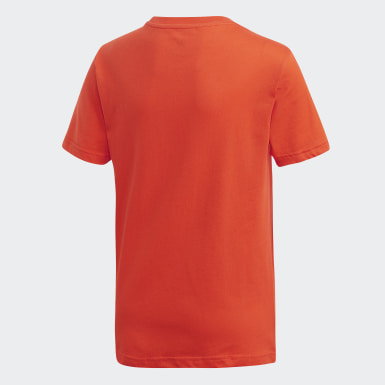 T-shirt Trefoil Orange Enfants Originals