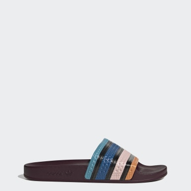 Heren Originals rood Adilette Badslippers