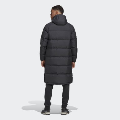 Herr City Outdoor Svart 3-Stripes Long Down Parka