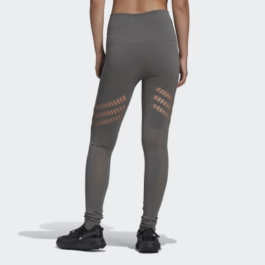 Frauen adidas by Stella McCartney adidas by Stella McCartney TRUESTRENGTH Warp Knit Yoga Tight Beige