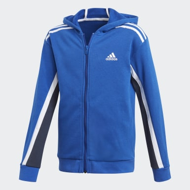 Boys Training Blue Bold Full-Zip Hoodie