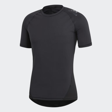 Men Winter Sports Black Alphaskin Sport Tee