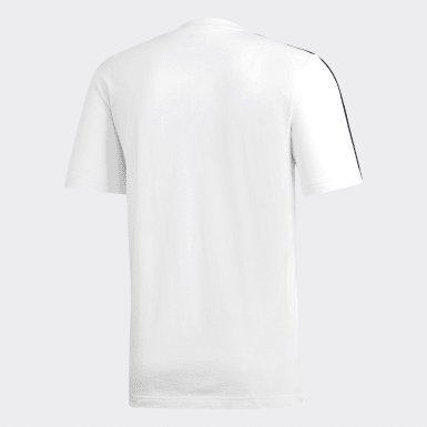 Camiseta Essentials 3 bandas Blanco Hombre Athletics
