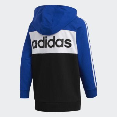 Sweat-shirt à capuche bleu Adolescents Entraînement