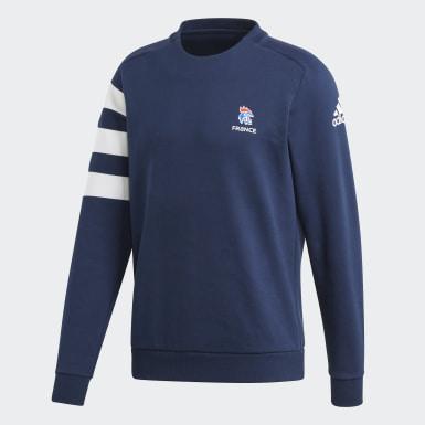Sweatshirt da Federação Francesa de Andebol Azul Homem Andebol