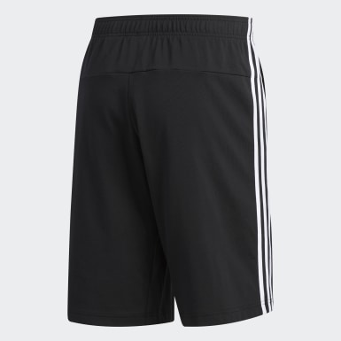 Men Training Black 3-Stripes Shorts