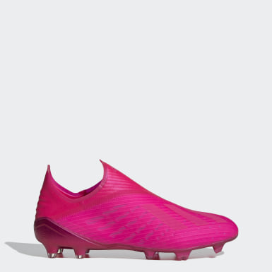 Bota de fútbol X 19+ césped natural seco Rosa Fútbol