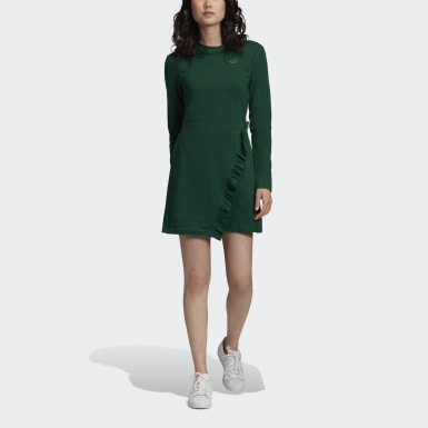 Robe Long Sleeves Vert Femmes Originals
