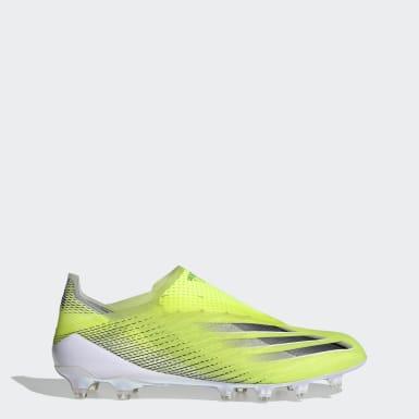 Scarpe da calcio X Ghosted+ Artificial Grass Giallo Calcio