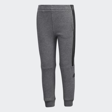 Children Training Grey Core Badge Joggers