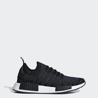 Women Originals Black NMD_R1 STLT Primeknit Shoes