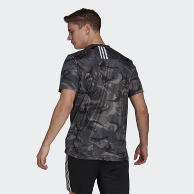 Heren Training Grijs adidas Designed To Move AEROREADY Camouflage Graphic T-shirt