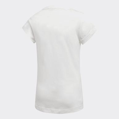 Camiseta Must Haves Badge of Sport Blanco Niña Yoga
