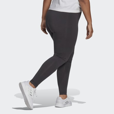 Kvinder Athletics Grå Essentials High-Waisted Logo Plus Size leggings