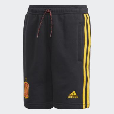 Jongens Voetbal Zwart Spanje Short