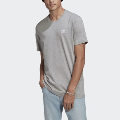 Heren Originals Grijs LOUNGEWEAR Adicolor Essentials Trefoil T-shirt