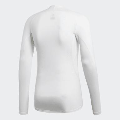 Mænd Cykling Hvid Alphaskin Sport T-shirt