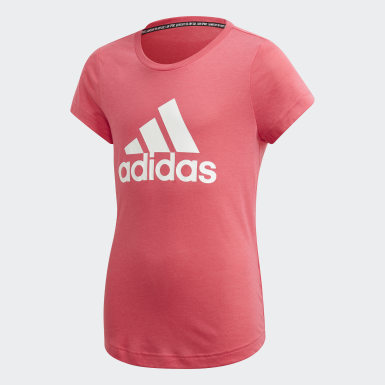 Remera Must Haves Badge of Sport Rosa Niño Sport Inspired
