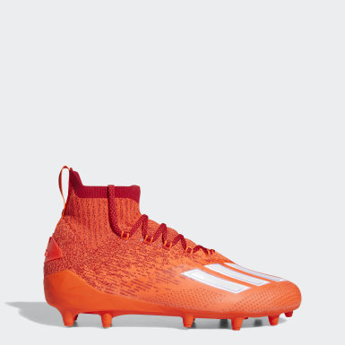 Men's Football Orange Adizero Primeknit Cleats