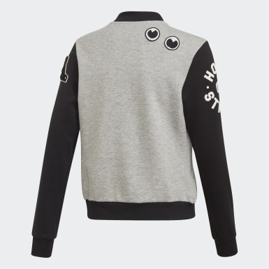 Youth 8-16 Years Athletics Grey Collegiate Bomber Jacket