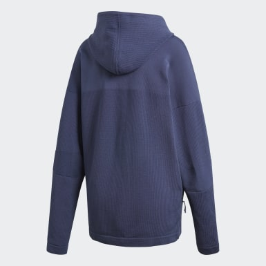 Chaqueta con capucha adidas Z.N.E. Primeknit Azul Mujer Athletics