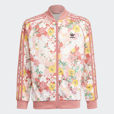 Girls Originals Pink HER Studio London Floral SST Jacket