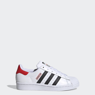 Chaussure Superstar Run DMC blanc Adolescents Originals