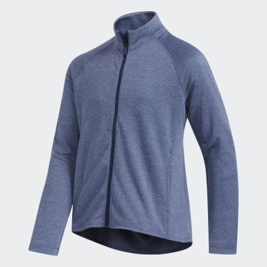 Girls Golf Blue Heathered Knit Jacket