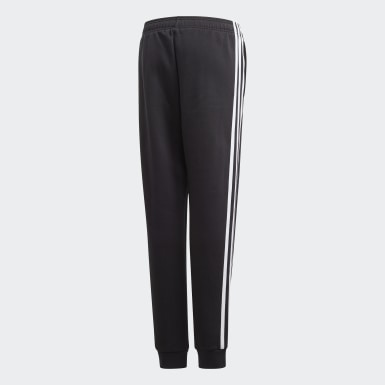 Boys Training Black Must Haves 3-Stripes Joggers